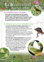 La biodiversité au jardin - Jardiniers de Tournefeuille