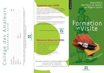 """Téléchargez le dépliant """"Visites-Formations"""" au format PDF."""