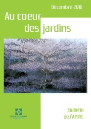Pages 1 à 4 - Association des Parcs et Jardins en Région Centre