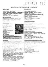 Pages 8 à 13 - Association des Parcs et Jardins en Région Centre