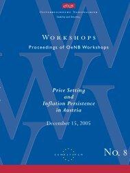 Regular Adjustment: Theory and Evidence – Workshops No. 8