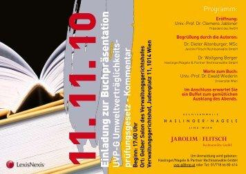 11. 11. 10 Einladung zur Buchpräsentation UVP-G Umw - Jarolim