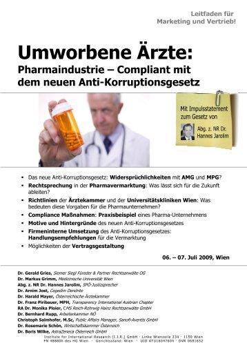 Pharmaindustrie – Compliant mit dem neuen Anti ... - Jarolim
