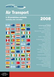 Getting the Deal Through – AIR TRANSPORT 2008 - Jarolim