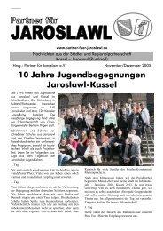 10 Jahre Jugendbegegnungen Jaroslawl-Kassel