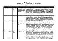 Angebot an W-Seminaren 2009 / 2011 - Johann-Andreas-Schmeller ...