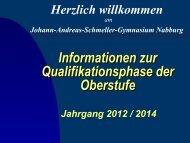 PowerPoint-Präsentation zur Kurswahl 2012/13 (pdf) - Johann ...