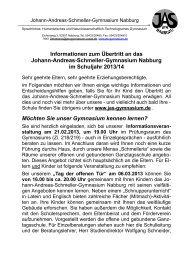 Informationen zum Übertritt 2013/14 - Johann-Andreas-Schmeller ...