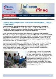 """Schüler besuchten Infineon im Rahmen des Projektes """"Zeitung in ..."""