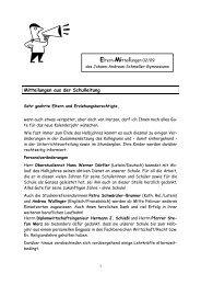 Mitteilungen aus der Schulleitung - Johann-Andreas-Schmeller ...