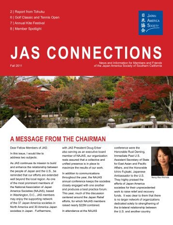 Issue 2 - Fall 2011 - Japan America Society of Southern California