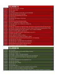 CLASSE A CLASSE B - JAS
