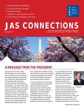 Issue 3 - Spring 2012 - Japan America Society of Southern California