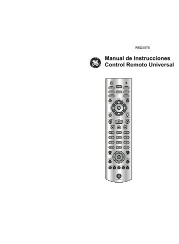 Manual de Instrucciones Control Remoto Universal - Jasco Products
