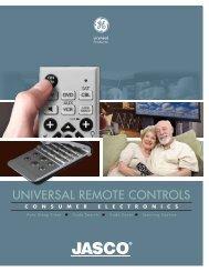 UNIVERSAL REMOTE CONTROLS - Jasco Products