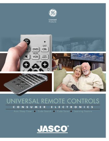 UNIVERSAL REMOTE CONTROLS - Jasco Products