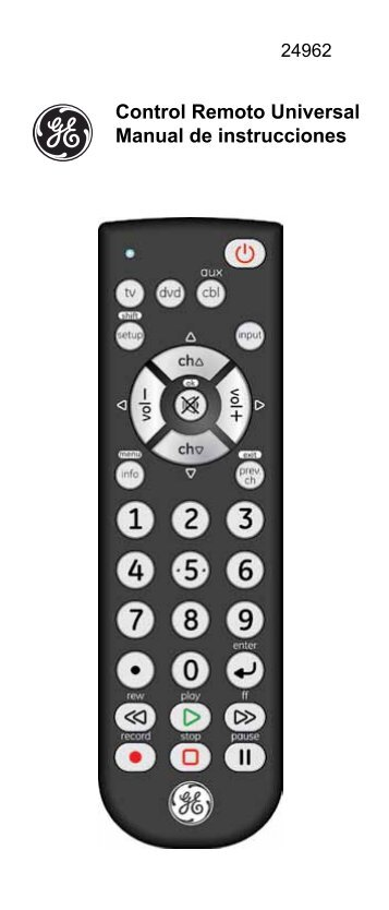 Control Remoto Universal Manual de instrucciones - Jasco Products