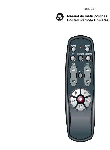 Manual de Instrucciones Control Remoto Universal - Jasco Products