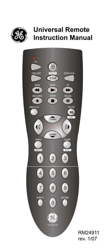 Cisco Universal remote Manual