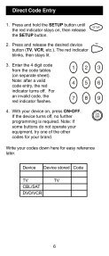 Universal Remote Instruction Manual - Jasco Products - Page 6