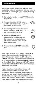 Universal Remote Instruction Manual - Jasco Products - Page 7