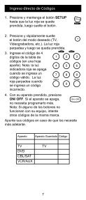 Control Remoto Universal - Jasco Products - Page 7