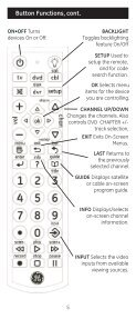 Universal Remote Instruction Manual - Jasco Products - Page 5