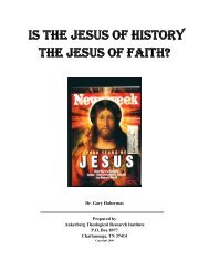 is the jesus of history the jesus of faith? - Ankerberg Theological ...