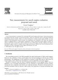 New measurements for search engine evaluation ... - Jason Morrison