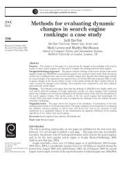 Methods for evaluating dynamic changes in search ... - Jason Morrison