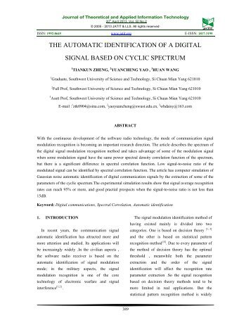 journal of theoretical and applied information Journal of theoretical and applied information technology 2005 - 2008 jatit all rights reserved wwwjatitorg 119 impact of.