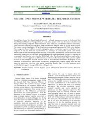secure open source web based helpdesk system - Journal of ...