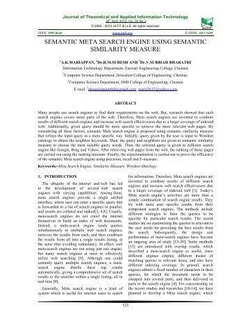 semantic meta search engine using semantic - Journal of ...