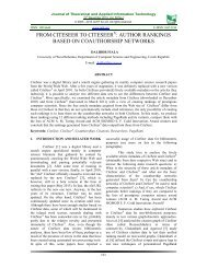 article - Journal of Theoretical and Applied Information Technology