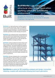 BuiltWorks – an integrated structural steel design application ...