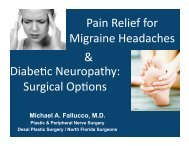 Pain Relief for Migraine Headaches Diabe c Neuropathy: Surgical ...