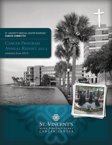 Cancer Program Annual Report 2012 - St. Vincent's HealthCare