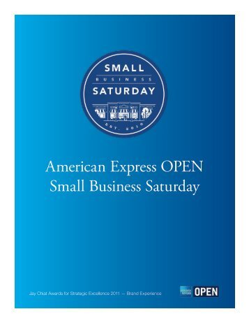 Small Business Saturday - Jay Chiat Awards for Strategic Excellence