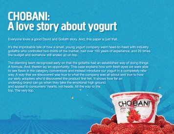 A Love Story About Yogurt - Jay Chiat Awards for Strategic Excellence