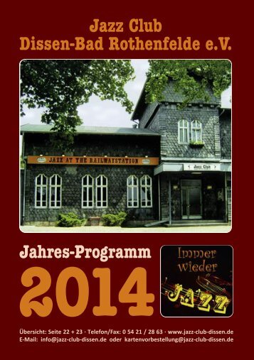 2014 - Jazz Club Dissen - Bad Rothenfelde eV