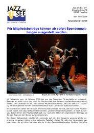 Spendenquittungen für Mitgliedsbeiträge - Jazz am See e.V.