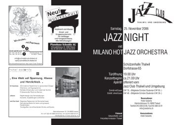 JAZZ NIGHT - Jazzclub Thalwil