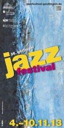 Programmheft als PDF herunterladen - Jazzfestival Göttingen