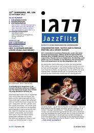 10de JAARGANG, NR. 186 - JazzFlits
