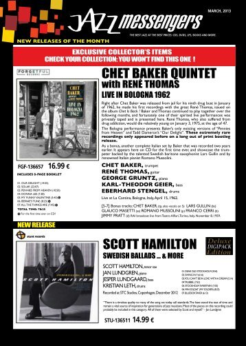 Download march 2013 issue - Jazz Messengers