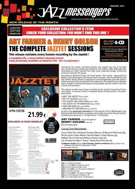 Download january 2013 issue - Jazz Messengers