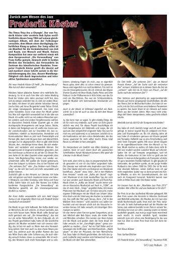 Frederik Köster - Jazz Podium