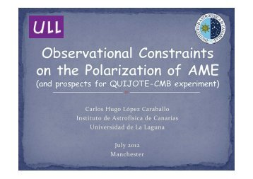 Observational constraints on the polarization of AME