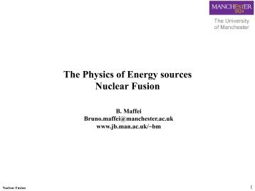 Nuclear fusion - Jodrell Bank Centre for Astrophysics