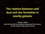 The relation between cold dust and star formation in nearby galaxies